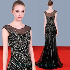 Affordable Evening Dresses, Black Mermaid, Illusion, Formal Dresses, Fashion, Dresses For Formal, Moda, Formal Gowns, Fashion Styles
