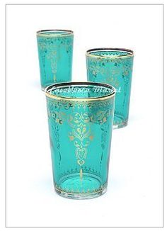 Beautiful tea glasses from Morocco - #ethicalfashion for the home