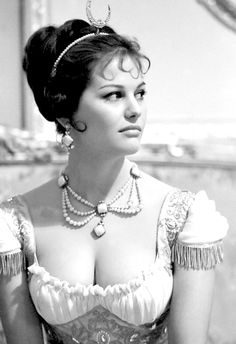 Claudia Cardinale as Pauline Bonaparte in the Movie 'The Battle of Austerlitz' 1960.