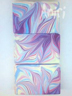 Fabelis by Aniri - Cold Process Soap - Column Pour Swirl - #soApbyAniri