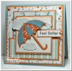 Get well card - love the layers and the colors!
