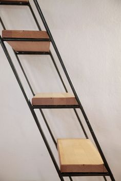 Alfredo Borghi, Cecilia Carattoni, Tipi Studio · Casa R Metal Stairs, Attic Stairs, House Stairs, Stair Handrail, Staircase Railings, Staircase Design, Staircases, Stair Supplies, Stair Posts