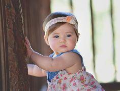Fieltro flor diadema - recién nacido/bebé/niño pequeño diadema - melocotón flor venda - prop de la foto
