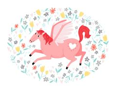 Pegasus Print by smalltalkstudio on Etsy