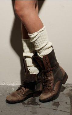>>> boots, long socks