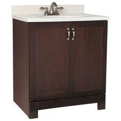 $259 30''  American Classics - 30 In. Java Oak Gallery Vanity - GJVO30 - Home Depot Canada