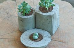 how to make easy concrete planters