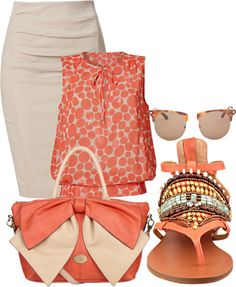 Orange blouse, sunglasses, sandals and stylish hand bag for ladies - The Tres Chic Blouse Orange, Stylish Eve, Look Fashion, Fashion Outfits, Womens Fashion, Fashion Trends, Fashion Sets, Prep Fashion, Blue Jeans