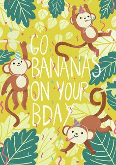 Leading Illustration & Publishing Agency based in London, New York & Marbella. Happy Birthday Animals, Happy Birthday Notes, Happy Birthday Wishes Cards, Bday Cards, Birthday Greeting Cards, Birthday Greetings, Greeting Cards Handmade, Birthday Msg, Birthday Pictures
