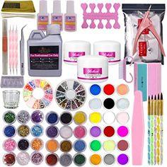 Liquid Nails, Glue On Nails, Acrylic Liquid, Nail Art Set, Dot Nail Art, Uñas Diy, Clear Nail Tips, French Tip Nail Art, Basic Nails