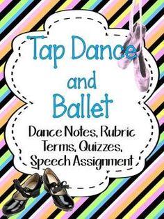 TAP DANCE AND BALLET: DANCE NOTES, RUBRIC, TERMS, QUIZZES, High School Dance, School Dances, Hip Hop Dance Classes, Life Insurance Premium, Physical Education Teacher, Dance Teacher, Dance Lessons, Tap Dance, Learn To Dance