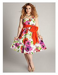Vintage Floral Dress by IGIGI by Yuliya Raquel - This would be fun for a garden party.  <3