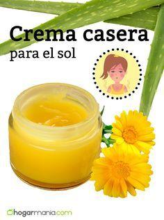 Crema casera para el sol de áloe vera y caléndula #crema #sol #remedionatural #hogarmania #calendula