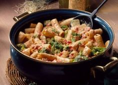 """Creamy Chicken and Rigatoni - To qualify as """"healthy,"""" I'll use whole wheat pasta and substitute fat free half & half for the heavy cream."""