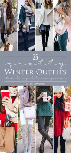 Let's get some awesome inspiration with these 25 Pretty Winter Outfits to Try this Year. Most of these are so comfy and cozy!!! Check them out!