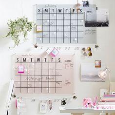 Calendário em acrílico ou vidro #calendário #organização #planejamento