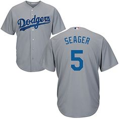 a93657404 5 Corey Seager Jersey Baseball Jerseys Mens Grey 1 Size L. Sewn-on tackle  twill graphics. Embroidered team patch on sleeve.