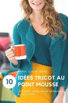 10 idées DIY pour tricoter du point mousse - Marie Claire Idées