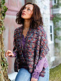 Gypsy Sun Shawl - Free Knitted Pattern - (berroco)