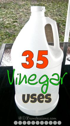 35 Vinegar Uses! List of benefits and recipes for cleaning with vinegar!