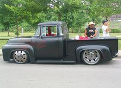 old pickup trucks Lowered Trucks, Dually Trucks, Hot Rod Trucks, Cool Trucks, Pickup Trucks, Cool Cars, 56 Ford Truck, Old Ford Trucks, Rc Trucks