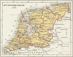 Koninkrijk Holland European History, World History, Early World Maps, Holland Map, Hellenistic Period, Kingdom Of The Netherlands, Carolingian, Classical Antiquity, Old Maps