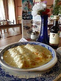 Enchiladas Suizas estilo Sanborns - A petición de Estela desde Madrid, le comparto la receta de las famosas Enchiladas Suizas de Sanborns*..