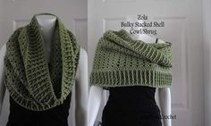 Bulky Stacked Shell Cowl and Shrug Free pattern. Made with red heart with love