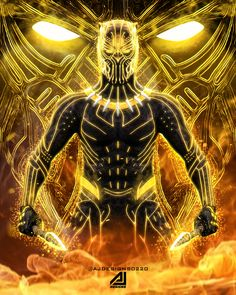 killmonger Mundo Marvel, Marvel Vs, Marvel Heroes, Marvel Comics, Black Panther Art, Black Panther Marvel, Golden Jaguar, Iron Man Avengers, Black Characters