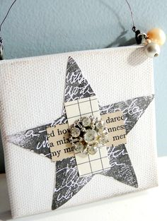 Canvas Altered Art by Becky Shander