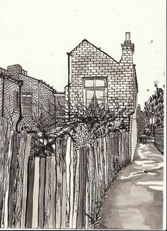 Rachel Walsh dip pen and ink drawing #pen