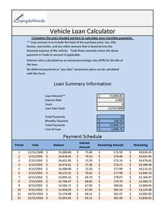 Download The Loan Amortization Schedule From VertexCom