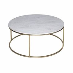 Attrayant NO BRAND Marble Coffee Table Gold Stainless Steel Round Table