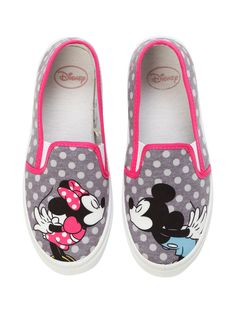Disney Mickey & Minnie Mouse Kiss Slip-On Shoes, , alternate