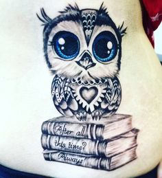 Owl tattoo/ Harry Potter quote                                                                                                                                                                                  More