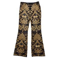 S/S 2000 RARE GUCCI by TOM FORD EMBROIDERED LEATHER PANTS