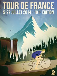Tour de France 2014 by Orick propaganda, via Behance