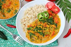 Kitchen Simmer: Vegan Lentil Spinach Tomato Curry