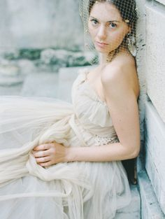 Romantic Paris Wedding Elopement Inspiration, wedding gown, birdcage veil // Pinned by Dauphine Magazine, curated by Castlefield (wedding invitation, branding, pattern designs: www.castlefield.co). International Couture Fashion/Luxury Wedding Crossover Magazine - Issue 2 now on newsstands! www.dauphinemagazine.com. Instagram: @ dauphinemagazine / @ castlefieldco. Dauphine and Castlefield only claim credit for own images.