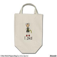 I Diet Stick Figure Bag