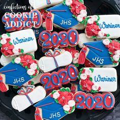 Wariner is a Jordan High School grad! #classof2020  #acookieaddict Class Of 2020, Addiction, Jordans, High School, Cookies, Desserts, Food, Tailgate Desserts, Biscuits