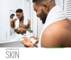 Make no mistake: men need to care for their skin as much,if not more, than women.However, men and women have different types of skin with different needs. Because men have thicker skin, they also have more sebum-producing glands.Women's oil production starts to decrease a lot sooner than men's, on average by about 20 years.It's these natural oils that help to protect the skin, keeping it feeling softer and smoother.  To show remarkable improvement in skin softness, smoothness, radiance… Herbalife Shop, Herbalife Nutrition, Oil Production, First Relationship, Thick Skin, Existing Customer, Weight Loss Program, Natural Oils, 20 Years
