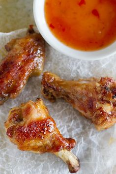 Sweet Thai Chicken Wings Recipe - wings are marinated in a sweet thai infused marinade and then baked to perfection.