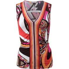 Emilio Pucci Ruched Front Tank