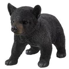 Millwood Pines Bearden Bear Cub Walking Statue & Reviews   Wayfair Black Bear Decor, Black Decor, Bear Statue, Black Bear Cub, Life Size Statues, Most Beautiful Gardens, Walking, Black Animals, Bear Cubs