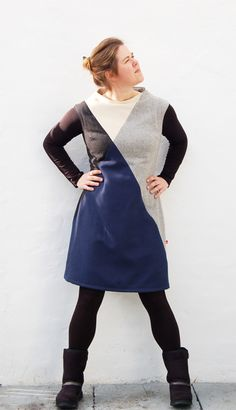 """Pointing Out Dress """"BurdaStyle Sewing Vintage Modern Contest 2013"""""""
