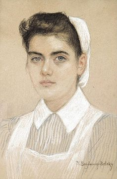 Portrait of a nurse. Nikolai Petrovich Bogdanov-Belsky