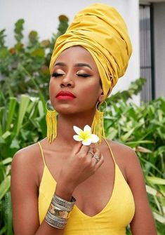 Black women are made out of brown sugar, cocoa, warm honey and gold✨🍯 — This gorgeous head wrap is « Citrine African Beauty, African Women, African Fashion, African Image, African Hair, Black Girl Magic, Black Girls, Mode Turban, Photographie Portrait Inspiration