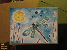 Dragonfly Watercolor Print Blank Stationary by DreanasDragonflyPie, $4.00