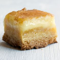 This recipe for Butter Cake Bars from Momofuku is among the best desserts we've ever made- rich, decadent and drippily delicious.